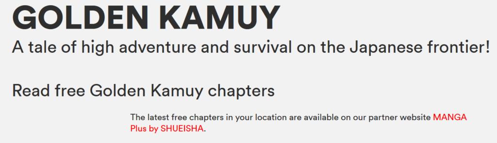 My 'Golden Kamuy' Debacle Reveals Weaknesses of VIZ's Free Shonen Jump Service