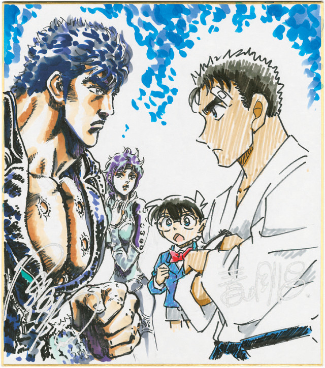 'Detective Conan' Meets 'Fist of the North Star' in New PV, Illustration by Series Creators