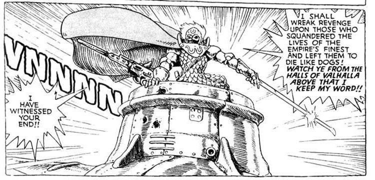 Kushana from Nausicaä of the Valley of the Wind manga