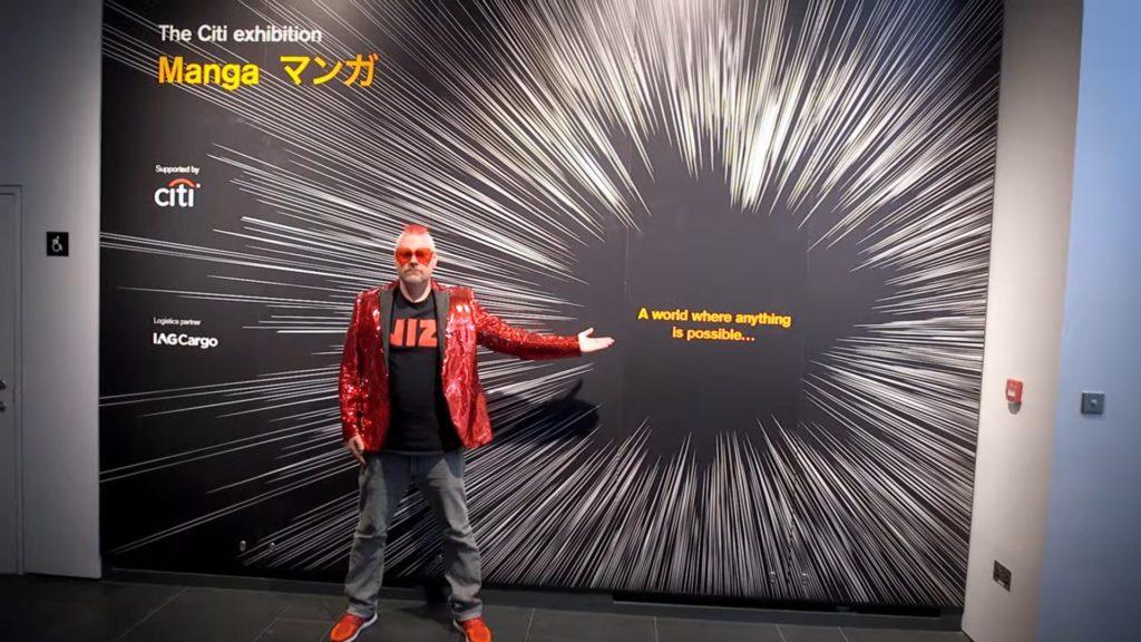 Urian Brown at the British Museum Manga exhibition