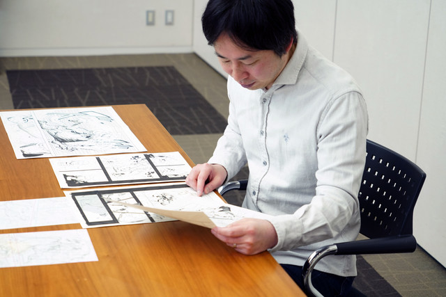 Kishimoto checking Samurai 8 manuscripts