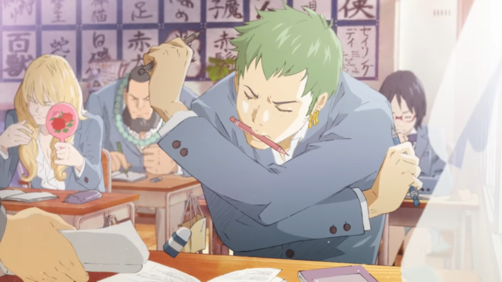 See Roronoa Zoro In High School In Surreal Cup Noodle Ad