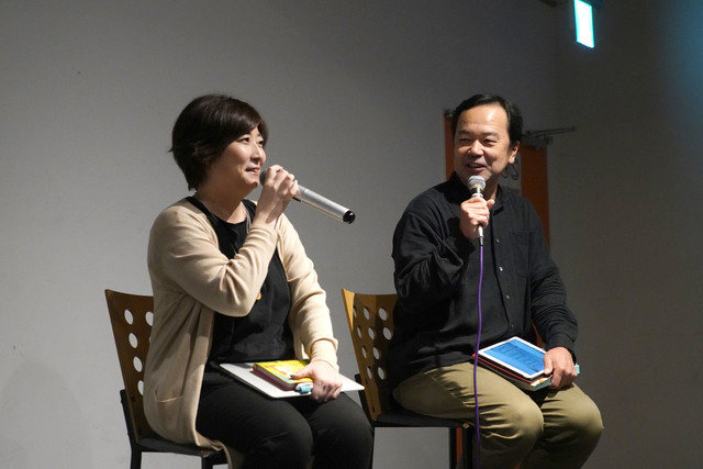 Nagaoka Tomoka (left) and Suwa Michihiko (right)