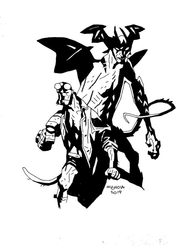 Hellboy Devilman collaboration