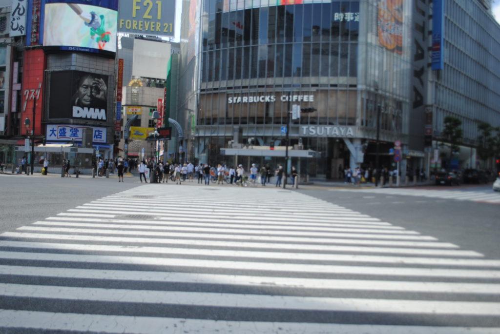 Strolling Through A Deserted Shibuya