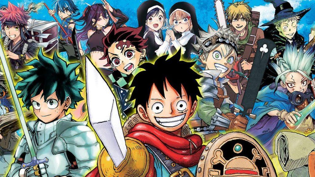 Illustration of Shonen Jump manga characters