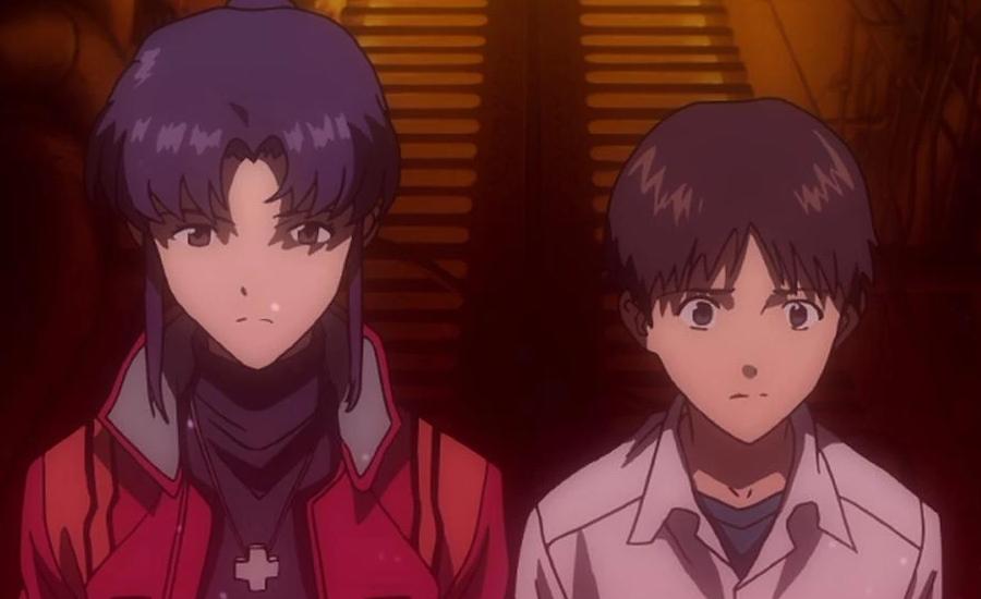 Misato and Shinji