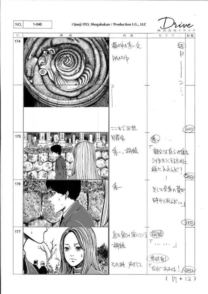 Uzumaki Anime Storyboards
