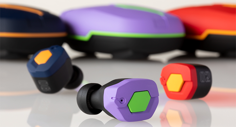 Evangelion Wireless Earphones Available for Preorder
