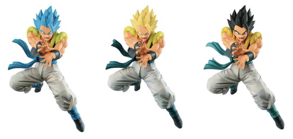All three Gogeta figures