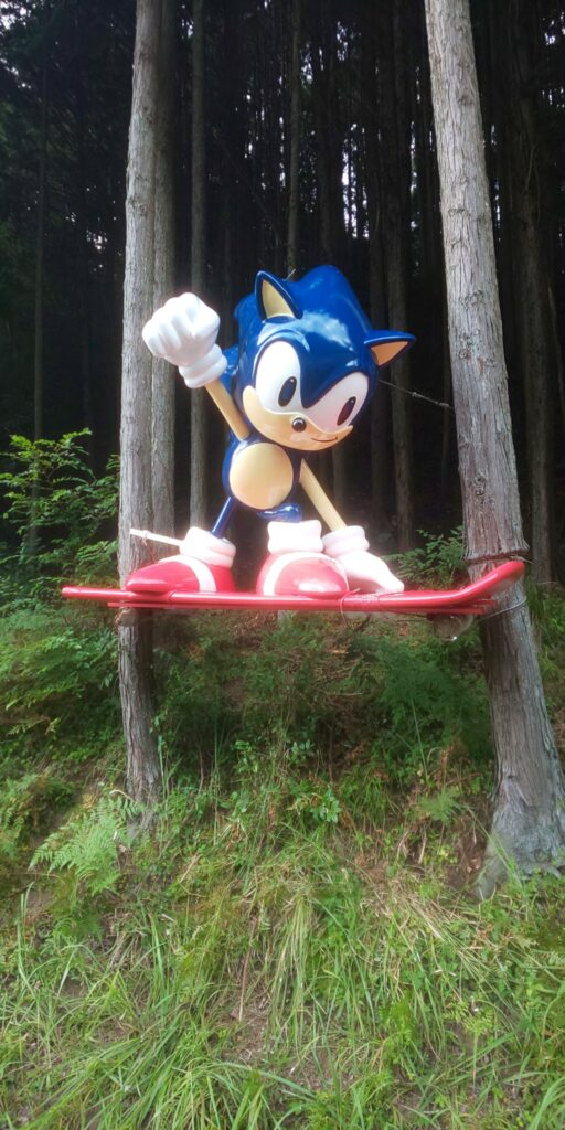 Mysterious Mountain Sonic Statue Gets A Makeover