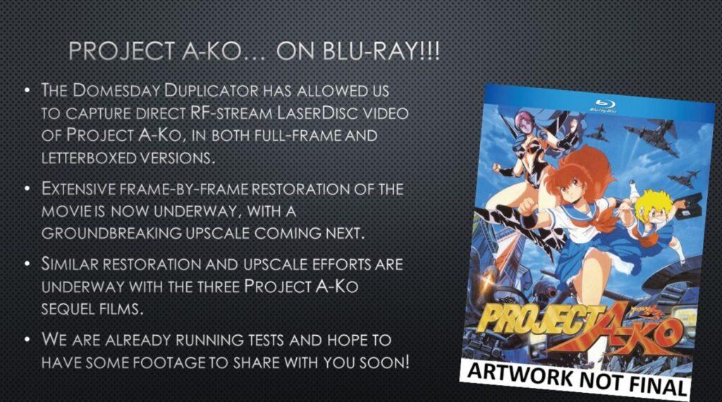 Project A-Ko Blu Ray