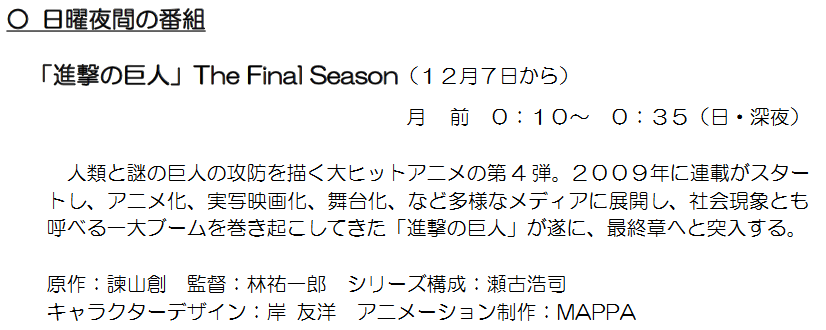 Attack on Titan Final Season release date