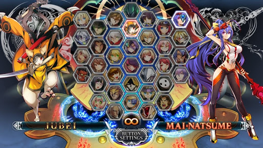 Blazblue Character Select Screen