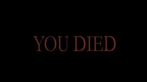 Dark Souls You Died screen