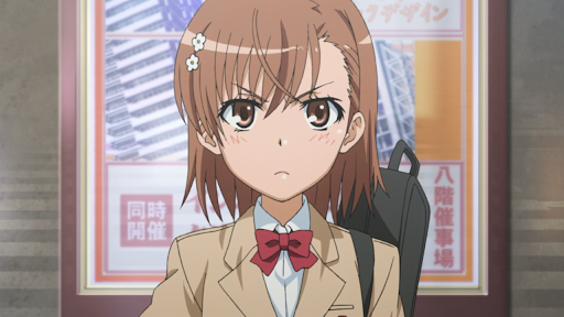 Mikoto Misaka from A Certain Scientific Railgun anime