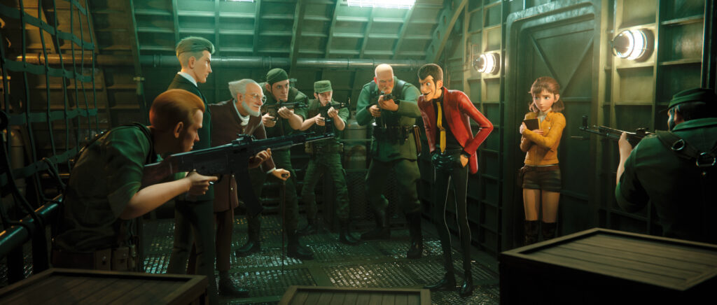 Lupin III: The First, Screenshot from the anime movie
