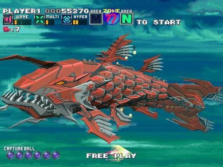 Darius Cozmic Revelation G-Darius Gameplay Screenshot