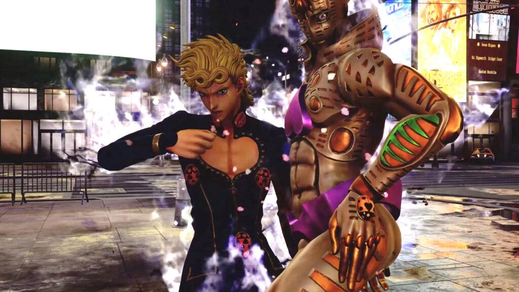 Giorno Giovanna fromJoJo's Bizarre Adventure in game Jump Force