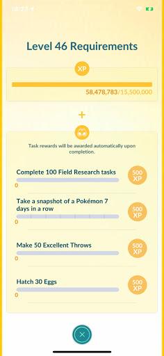 Pokemon Go Level New