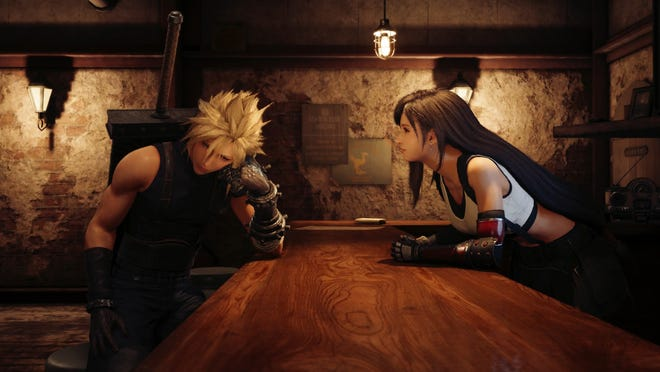 Tifa and Cloud in Final Fantasy VII Remake