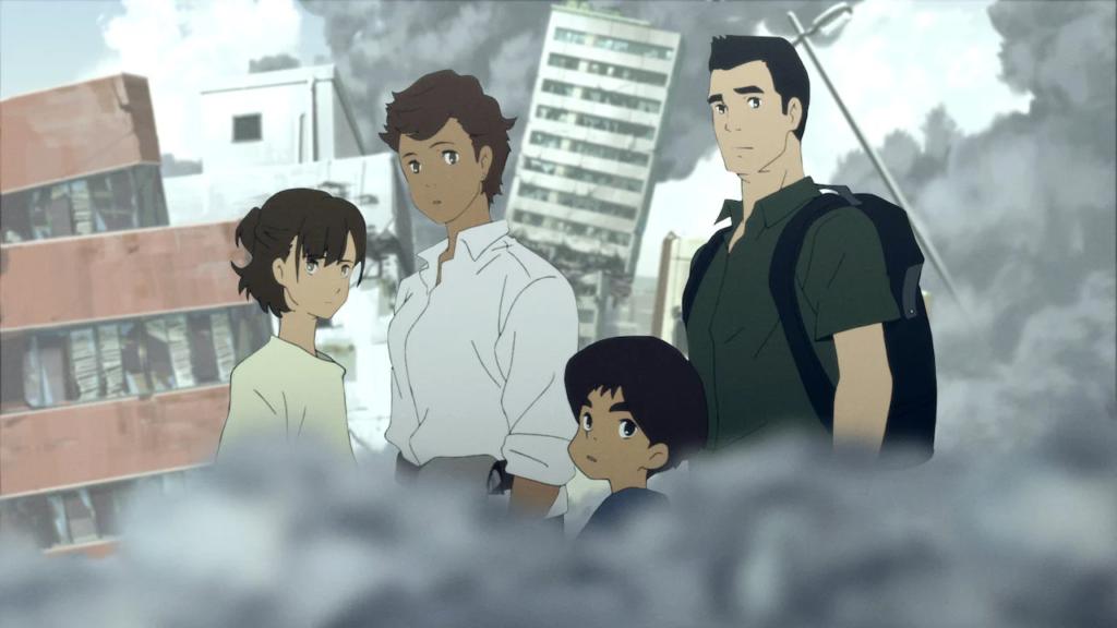 Screenshot from anime Japan Sinks 2020
