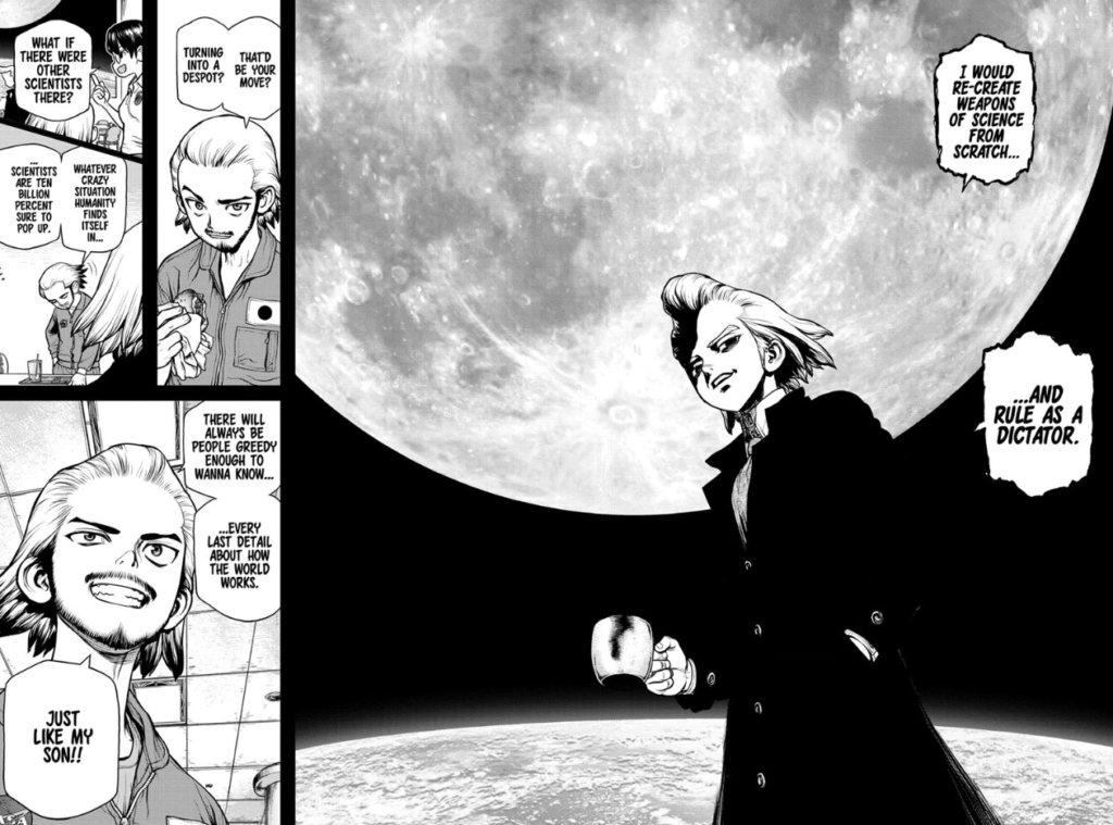 Byakuya and Xeno from Dr. Stone Manga
