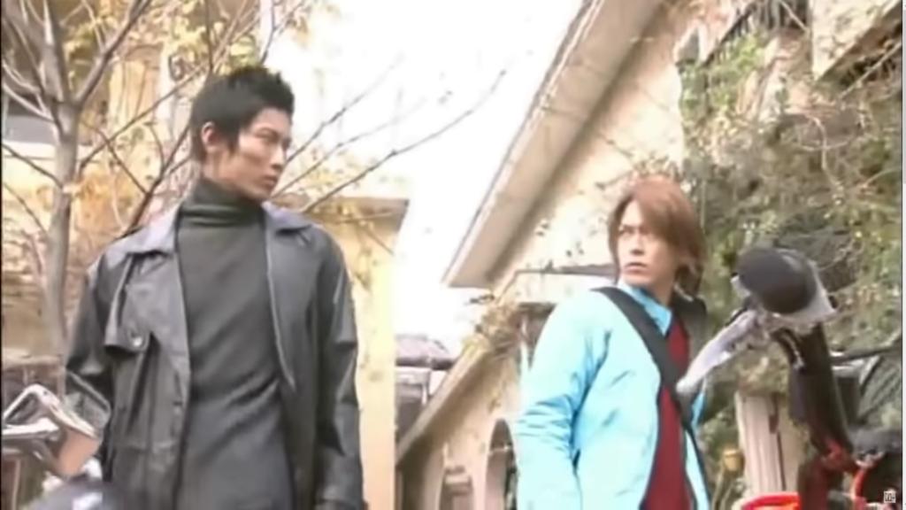 Shinji and Ren from Kamen Rider Ryuki