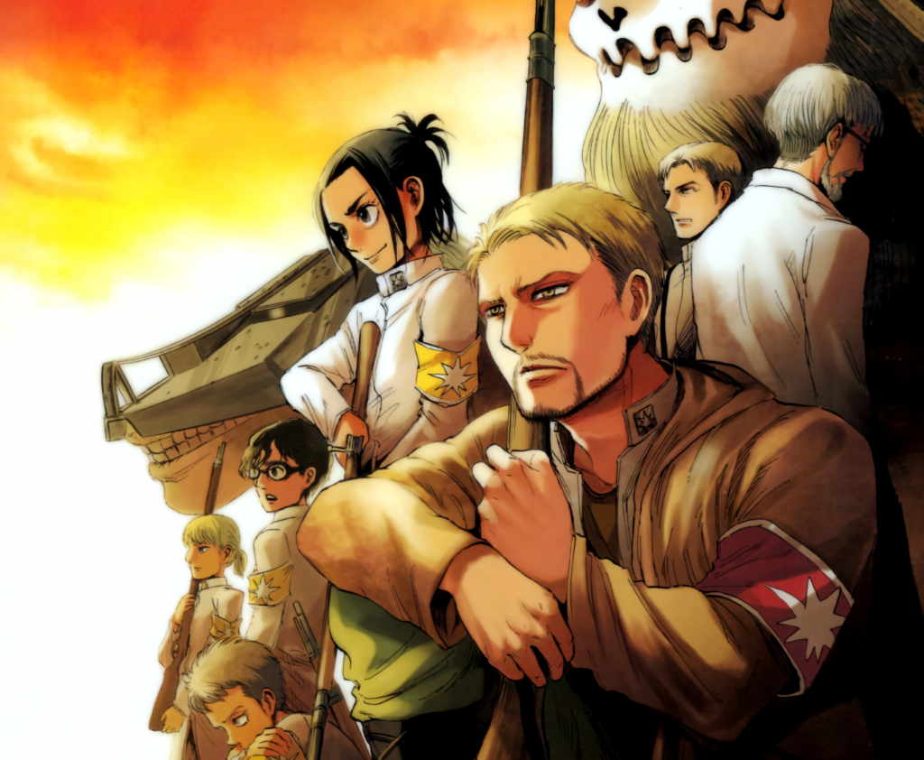 Illustration from Attack on Titan Marley arc