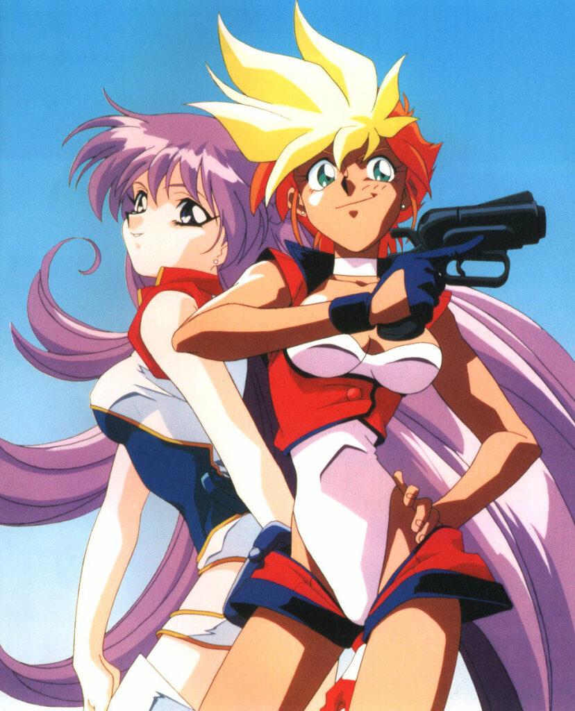 Kei and Yuri from anime Dirty Pair