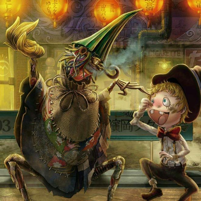 Artwork from Studio 4C's Poupelle of Chimney Town Anime Film