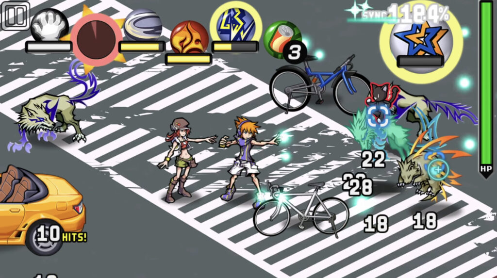 Gameplay screenshot from The World Ends With You
