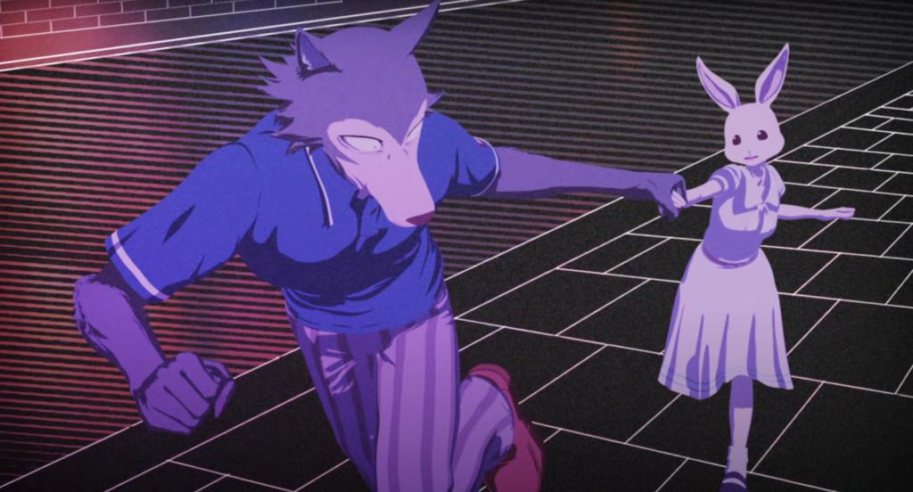 Screenshot from OP for anime Beastars Season Two