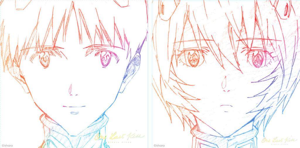 Shinji and Rei from Neon Genesis Evangelion
