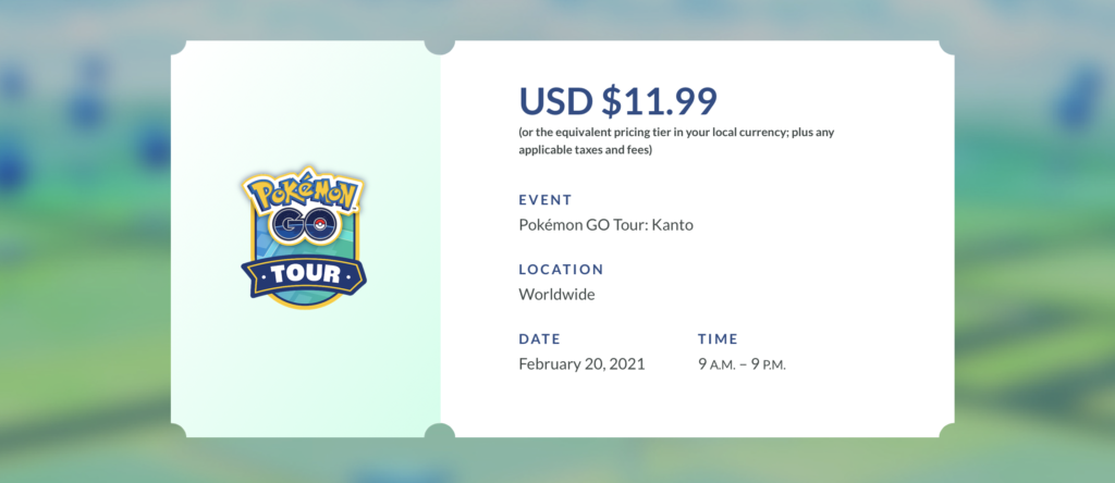 Pokemon Go Kanto Pricing