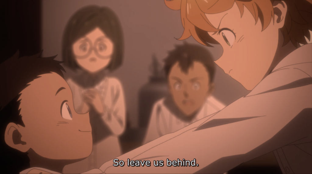 Emma and Phil from the Promised Neverland anime