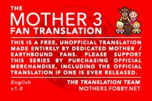 MOTHER 3 Fan Translation