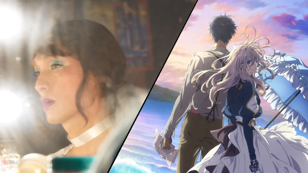 Violet Evergarden and screenshot from Japanese film
