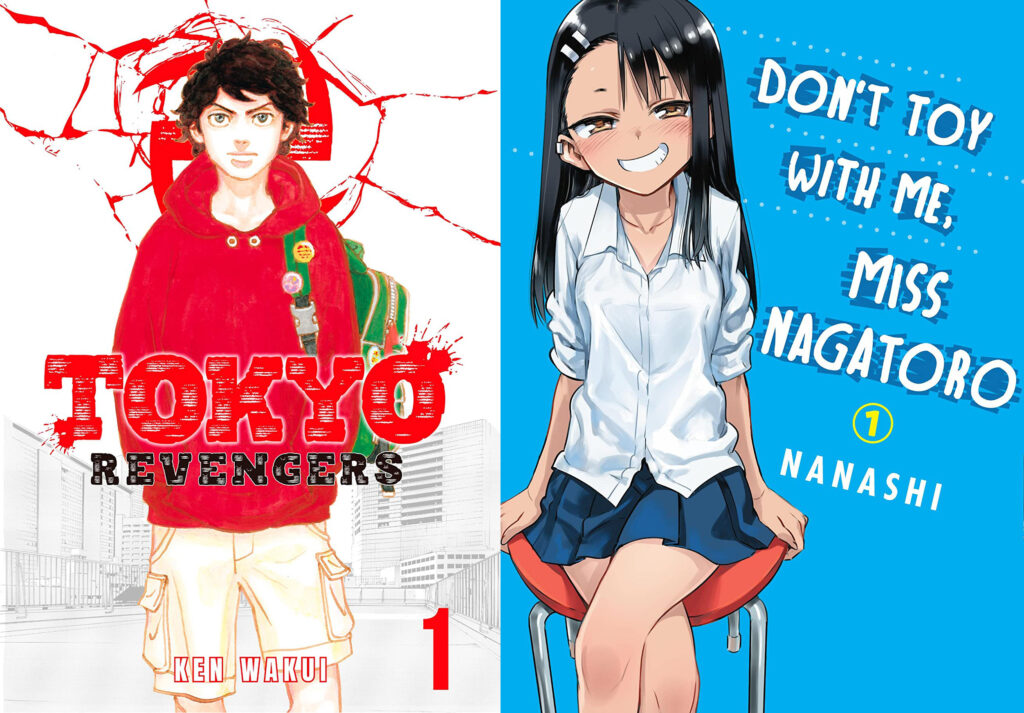 Tokyo Revenger and Don't Toy With Me, Miss Nagatoro manga covers