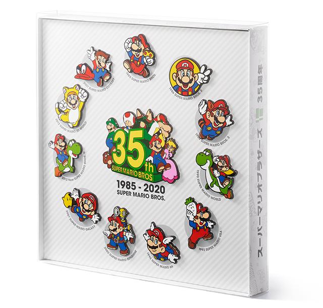 Japanese Super Mario 35th badges