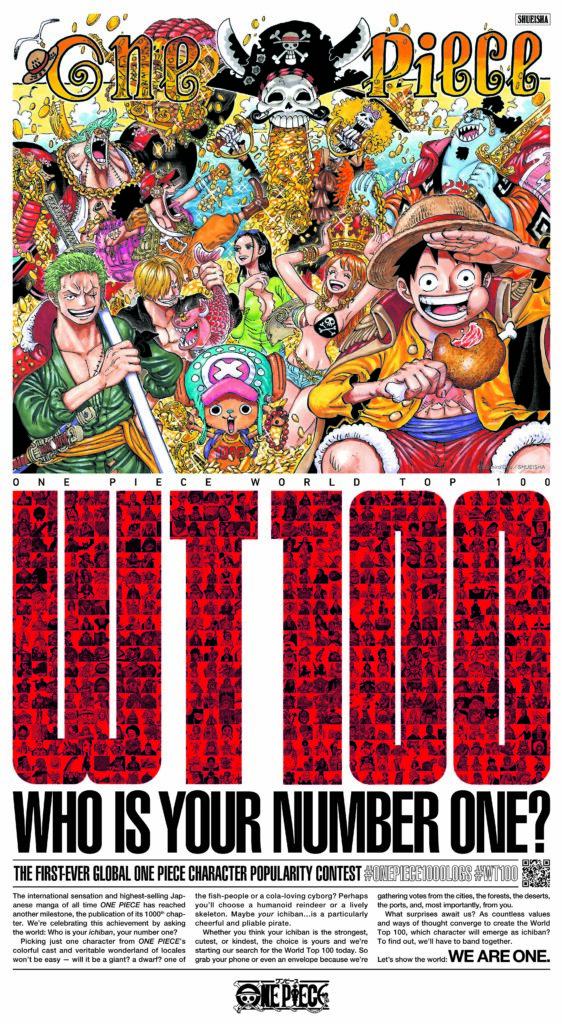 NY Times advert for One Piece World Top 100 contest