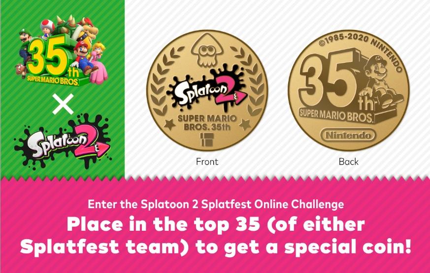 Splatoon coins, Super Mario 35th