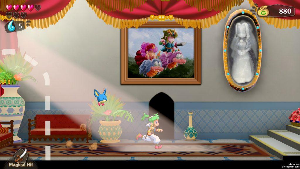 Wonderboy Asha in Monster World Gameplay