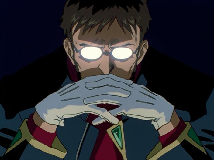 Gondo from anime Neon Genesis Evangelion