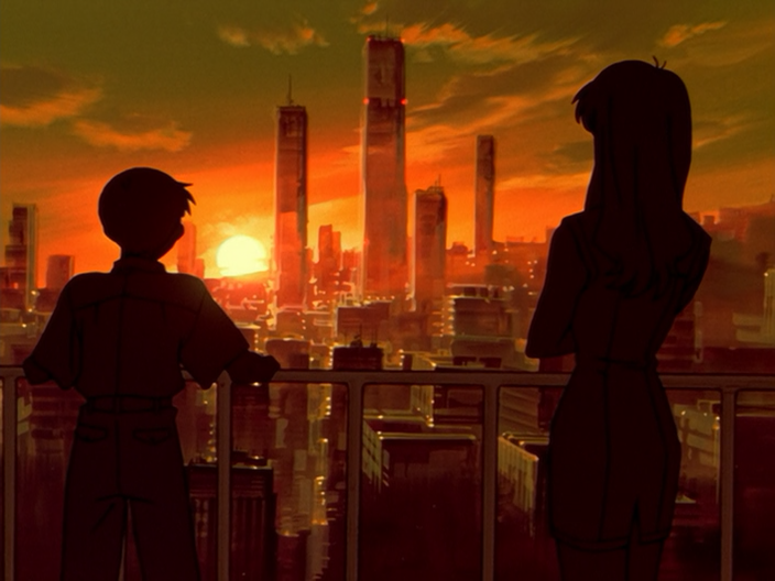 Illustration from anime Neon Genesis Evangelion