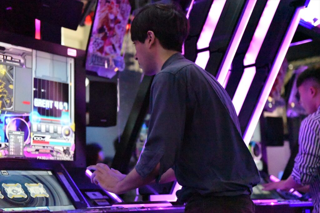 Player in Japanese Arcade