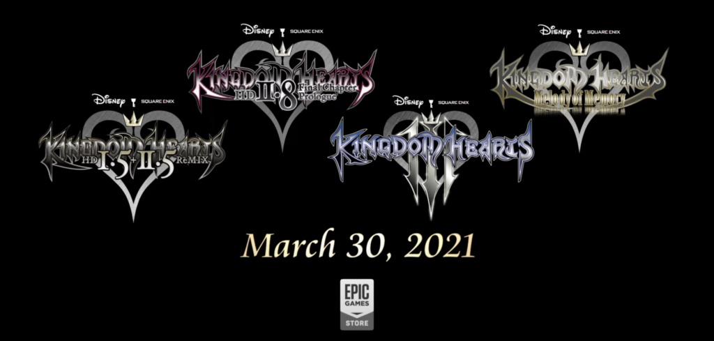 Kingdom Hearts Series Visual for Epic Games