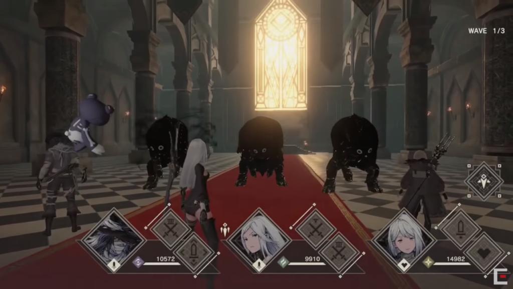 Nier Reincarnation Battle Screenshot