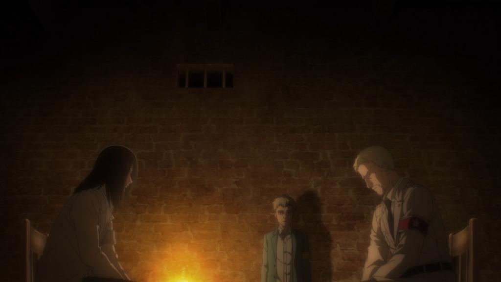 Eren and Reiner in Attack on Titan Final Season