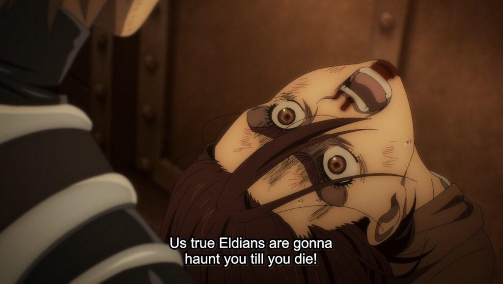 Screenshot from Attack on Titan: The Final Season episode 8